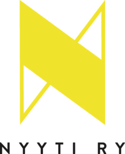 The picture shows a large yellow letter N, below which reads Nyyti Ry
